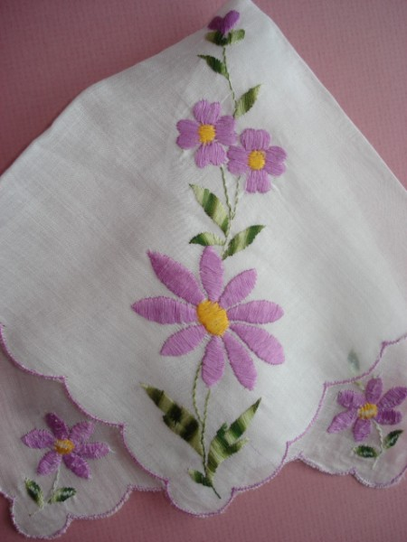 Simple Hand Embroidery Designs For Handkerchiefs