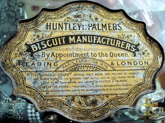 Victorian English Biscuit Tin Huntley Palmers Tin