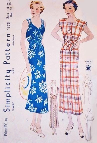 Vintage 1930s Sewing Patterns