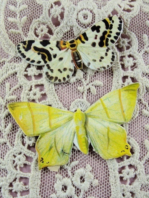 Lovely Victorian Die Cut Scraps Butterflies Moths  Great For Display Fine Crafts Scrapbooking