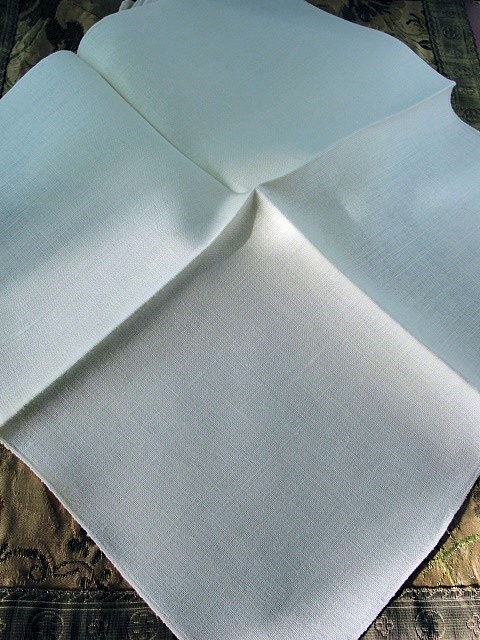 Beautiful Vintage Mid Century Irish Linen Napkins Set Creamy Off White Luxury LinensTable Linens