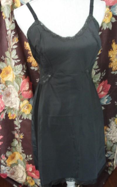 Vintage 60s PIN UP BARBIZON Black Taffeta and Lace Film Noir Slip Lingerie Ladies Under Clothing Sexy Luxury Quality Bridal Lingerie Bust 34