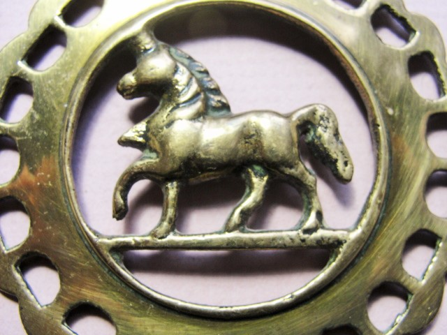 BEAUTIFUL Antique British HORSE BRASS Authentic Old Fancy Edwardian Brass Decorative Equestrian Collectible Brass Add To Your Collection