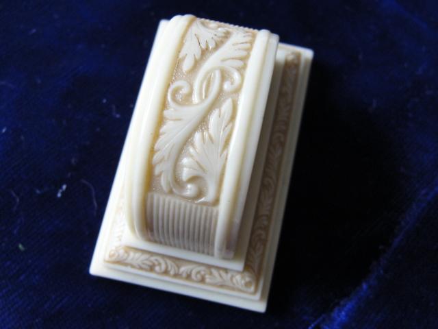Antique Ring Box Wedding Engagement Vintage Display Ringbox Ivory