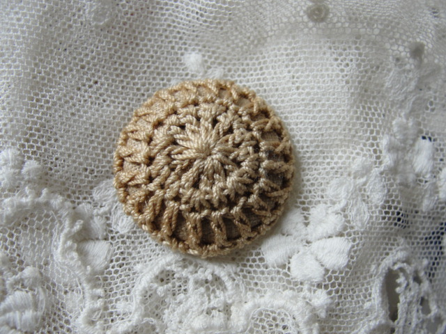 Lovely Antique Victorian Edwardian Button Crocheted Crochet Collectible Button
