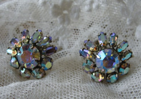 Back Earrings Vintage Costume Jewelry