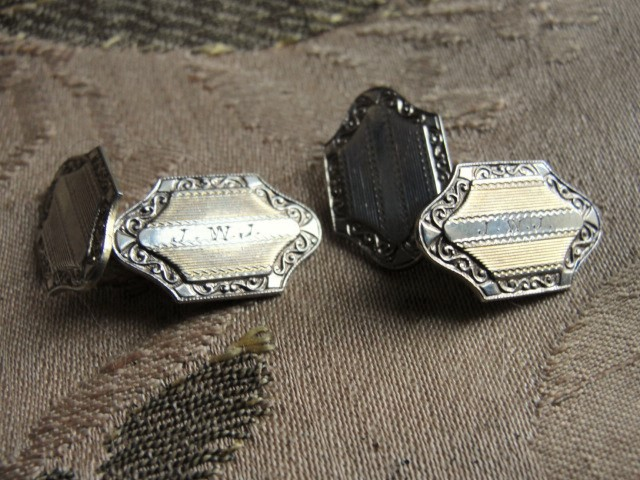 Quality Vintage 1920s ART DECO Gentlemens Pair of Mens Cuff Links Mens Jewelry