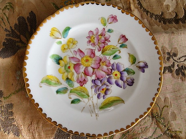 BEAUTIFUL Antique Tea Plate Hand Painted Flowers LORRAINE Pattern Royal Standard English Bone China