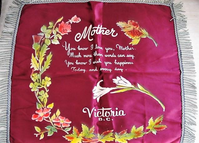 FAB n CAMP Vintage Souvenir Cushion Pillow Cover Victoria BC