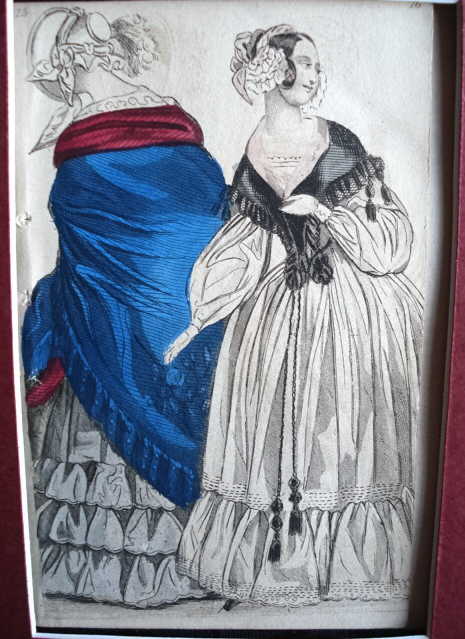 LOVELY VICTORIAN FASHION PRINT ORIGINAL 1830s
