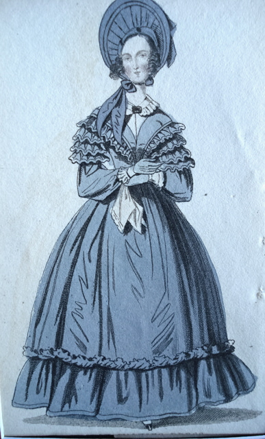 ORIGINAL 1830s VICTORIAN FASHION PRINT
