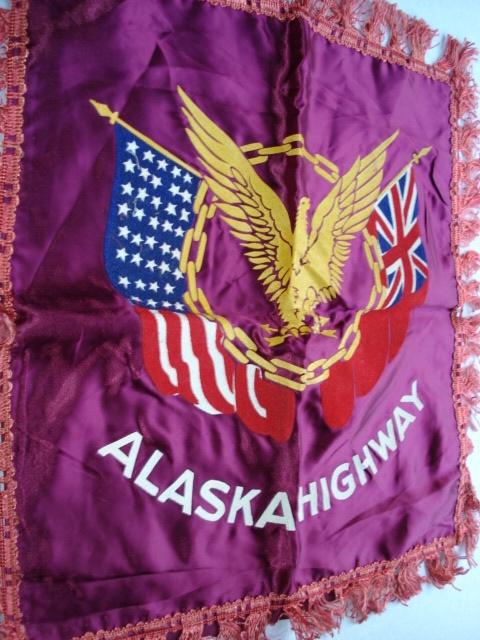 1940s VINTAGE SOUVENIR PILLOW CUSHION COVER ALASKA