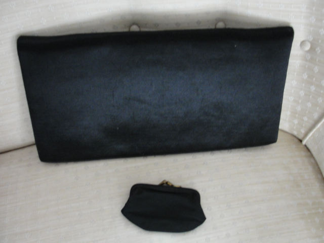 1940s SLEEK Envelope HandBag Purse Designer BRODY of California Elegant Daytime or Evening Purse Vintage Clothing