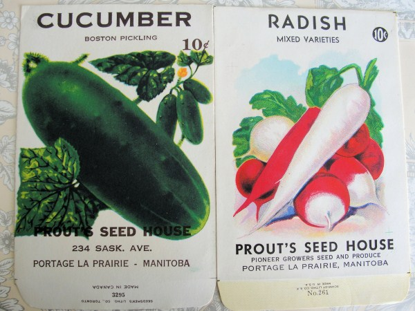 VINTAGE SEED PACKET VEGETABLES DECORATIVE CHIC