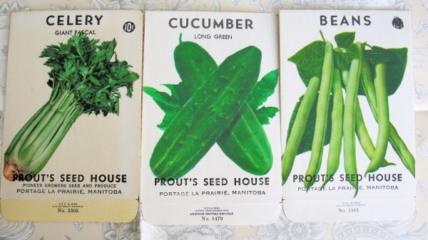 VINTAGE  SEED PACKETS SO CHIC SHABBY DECOR
