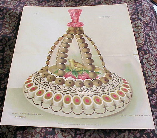 COLORFUL VICTORIAN FANCY CAKE PRINT PERFECT TO FRAME
