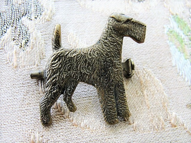 1930s ASTA Terrier Dog Brooch Pin Thin Man Nick and Nora's Dog Rare Art Deco Animal Figural Brooch Costume Jewelry