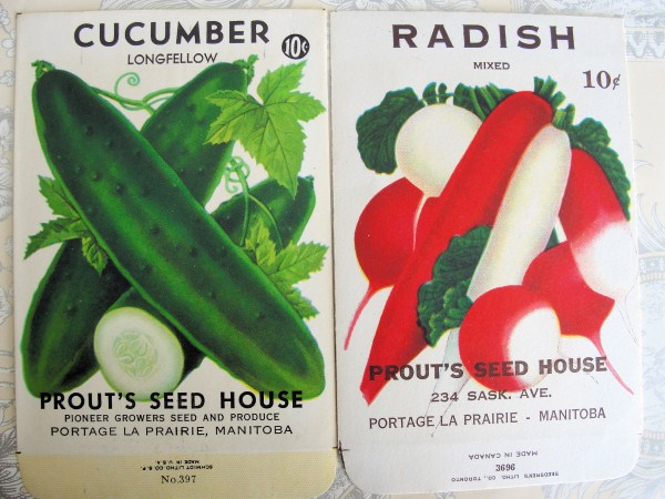 VINTAGE  VEGETABLE SEED PACKETS  GREAT COTTAGE DECOR