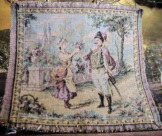 GORGEOUS SMALL FRENCH ANTIQUE TAPESTRY