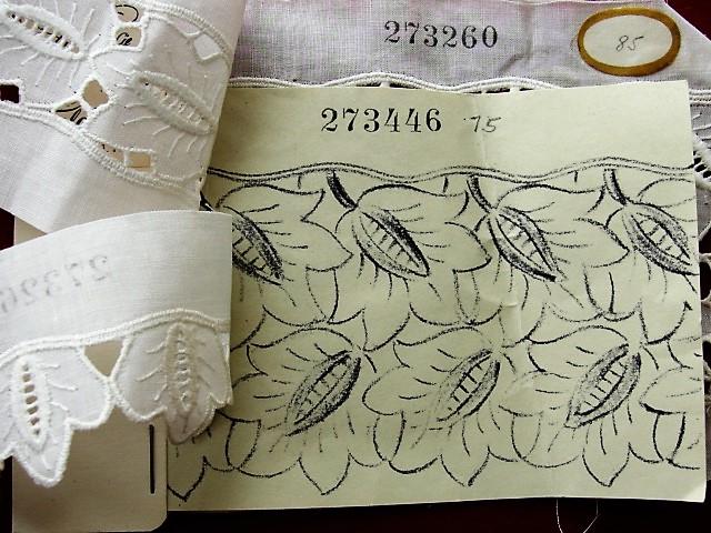 RARE Salesmans Sample Booklet Of French Trim Laces Charming Historical Sampler Vintage Whitework Edwardian Whites